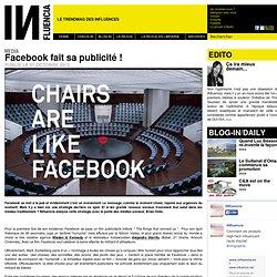 Media - Facebook fait sa publicité !