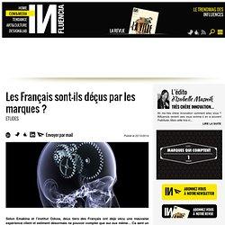 Les Français sont-ils déçus par les marques ?