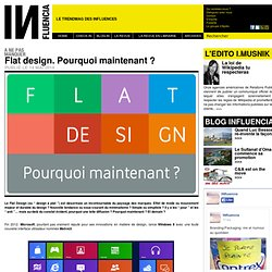 Flat design. Pourquoi maintenant ?