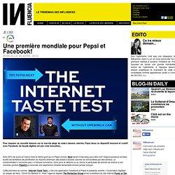 Je Like - Une première mondiale pour Pepsi et Facebook!