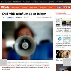 Kred mide tu influencia en Twitter