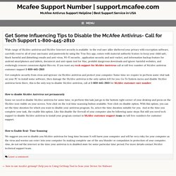 Get Some Influencing Tips to Disable the McAfee Antivirus Support