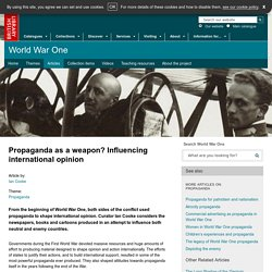 Propaganda as a weapon? Influencing international opinion