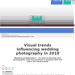 Visual trends influencing wedding photography in 2018
