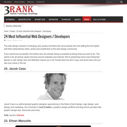 24 Most Influential Web Designers / Developers - 3Rank