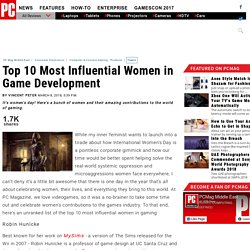 Top 10 Most Influential Women in Game Development - Computer & Console Gaming - Products