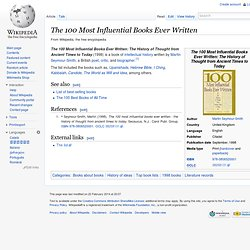The 100 Most Influential Books Ever Written (book)
