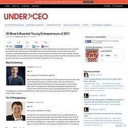 30 Most Influential Young Entrepreneurs of 2011