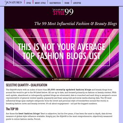 Style99 2012 Influential Fashion Blog Ranking