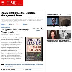 The Age of Unreason (1989), by Charles Handy - The 25 Most Influential Business Management Books