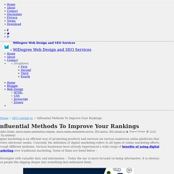 Influential Methods To Improve Your Rankings