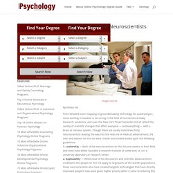 30 Most Influential Neuroscientists Alive Today - Online Psychology Degree Guide