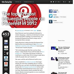 The top 10 most influential people on Pinterest in 2012