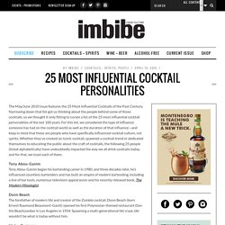 25 Most Influential Cocktail Personalities - Imbibe Magazine