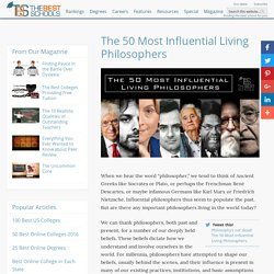 The 50 Most Influential Living Philosophers