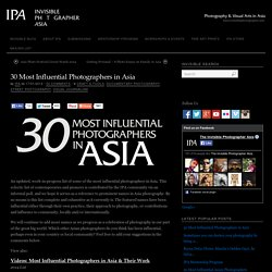 List of 30 Most Influential Photographers in Asia 2014