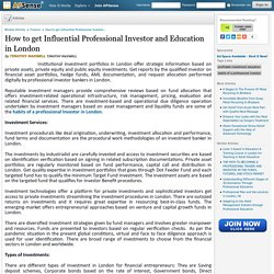 How to get Influential Professional Investor and Education in London