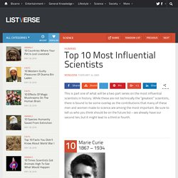 Top 10 Most Influential Scientists