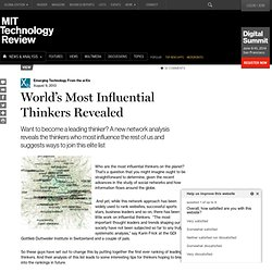 World's Most Influential Thinkers Revealed