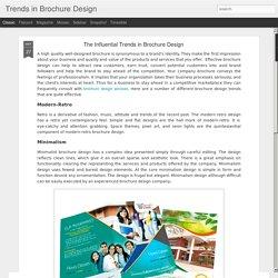 The Influential Trends in Brochure Design