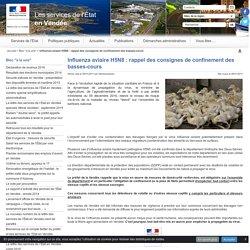 PREFECTURE DE VENDEE 06/01/17 Influenza aviaire H5N8 : rappel des consignes de confinement des basses-cours