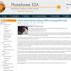 PLATEFORME ESA 03/05/16 Influenza aviaire hautement pathogène (IAHP) de sous-type H7N7 en Italie