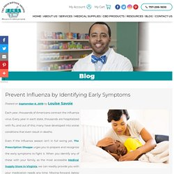 Prevent Influenza by Identifying Early Symptoms