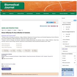 BIOMEDICAL JOURNAL 10/02/14 Avian influenza A virus infection in humans