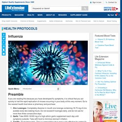 Influenza - Flu, Virus, Lozenges - Life Extension Health Concern