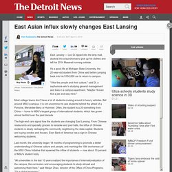 East Asian influx slowly changes East Lansing