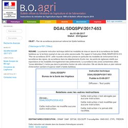 Instruction technique DGAL/SDQSPV/2017-653 du 01-08-2017 Plan de surveillance pluriannuel national de Xylella fastidiosa