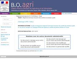 Règlement technique du 21-01-2019 Règlement technique d'examen des variétés de céréales à paille