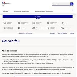 Info Coronavirus COVID-19 - Confinement : Lieux ouverts / Lieux fermés