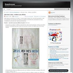 Info-doc 4 (6e) : réaliser une affiche