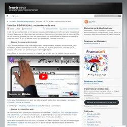 Info-doc 5-6-7-8-9 (6e) : recherche sur le web