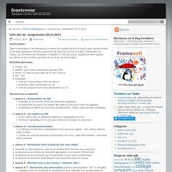 Info-doc 6e : progression 2013-2014
