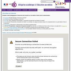 Info-Intox sur Internet — CLEMI / DAEM - Lille