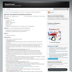 Info-doc : les moteurs de recherche (séance 9)