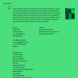 info - Studio Moss