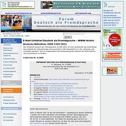 Infobrief Deutsch als Fremdsprache Ausgabe 2005-4