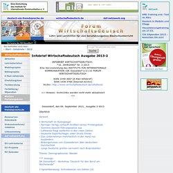 Infobrief Wirtschaftsdeutsch Ausgabe 2013-2