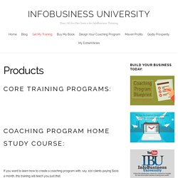 Products – InfoBusiness University