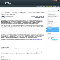 InfoCaptor – Offering Avant-garde Dashboard Software for Various Businesses