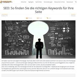 SEO: So finden Sie die richtigen Keywords für Ihre Seite