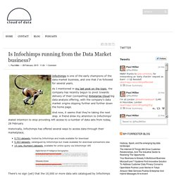 Is Infochimps running from the Data Market business?