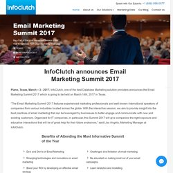 InfoClutch announces Email Marketing Summit 2017