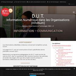 DUT INFOCOM InfoNum - IUT Nancy-Charlemagne