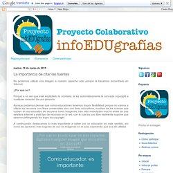 Proyecto InfoEDUgrafías: La importancia de citar las fuentes