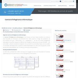 Contrat d'infogérance informatique