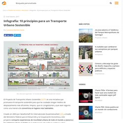 Infografía: 10 principios para un Transporte Urbano Sostenible, Plataforma Urbana